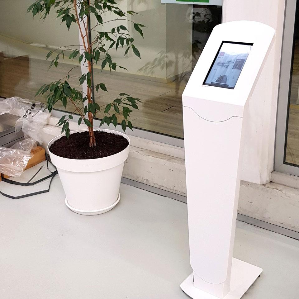 YUDO EU chose the QTOUCH EASYFIX kiosk from PARTTEAM & OEMKIOSKS