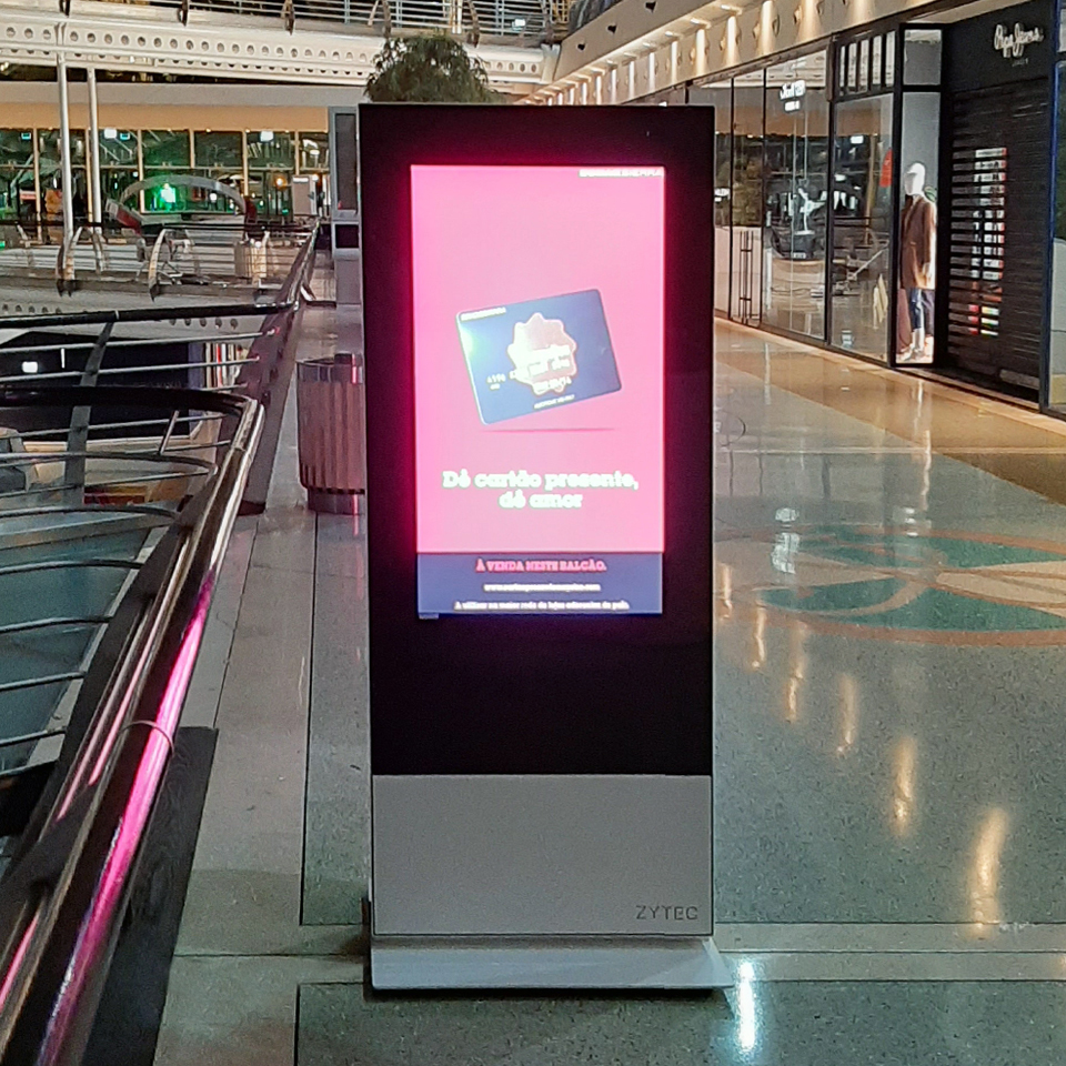 Digital billboards for Centro Vasco da Gama