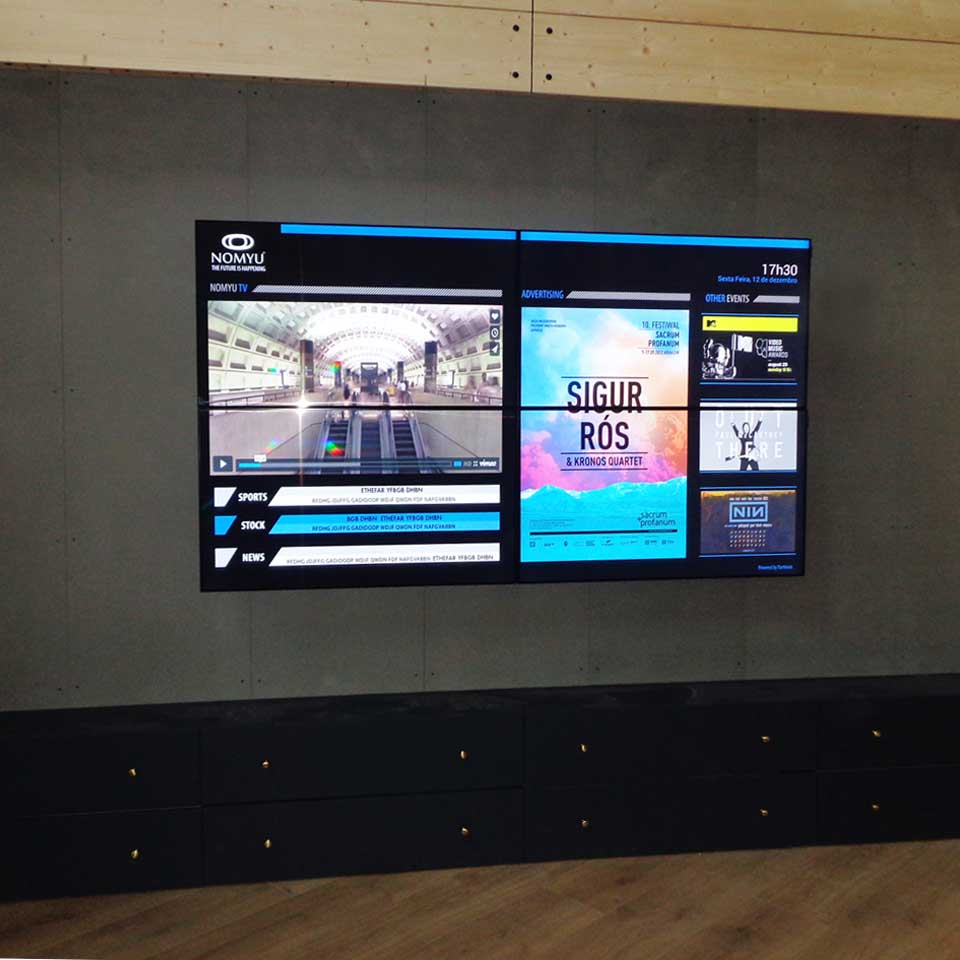 Video Wall for Bazar Desportivo: Digital Signage