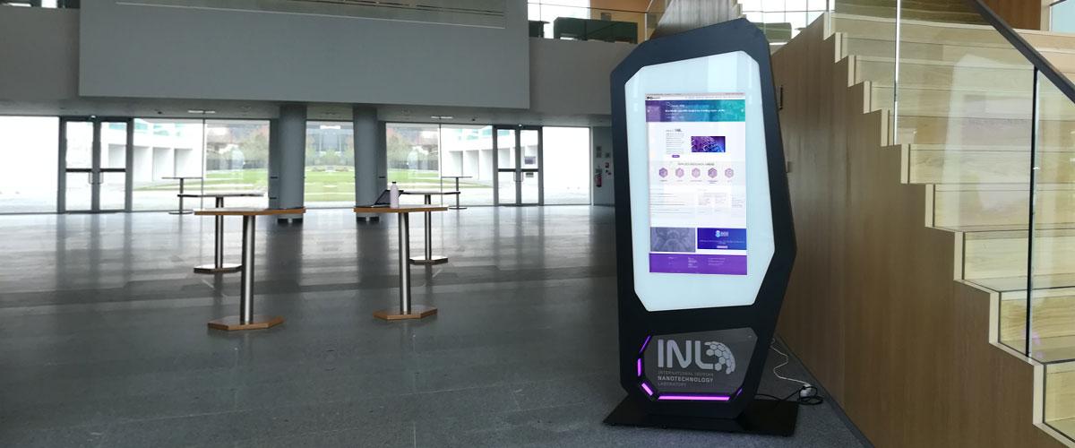 Interactive digital billboard CRISALYS installed in INL