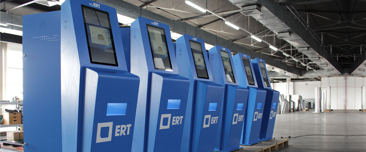 ERT equipped with interactive kiosks from PARTTEAM & OEMKIOSKS