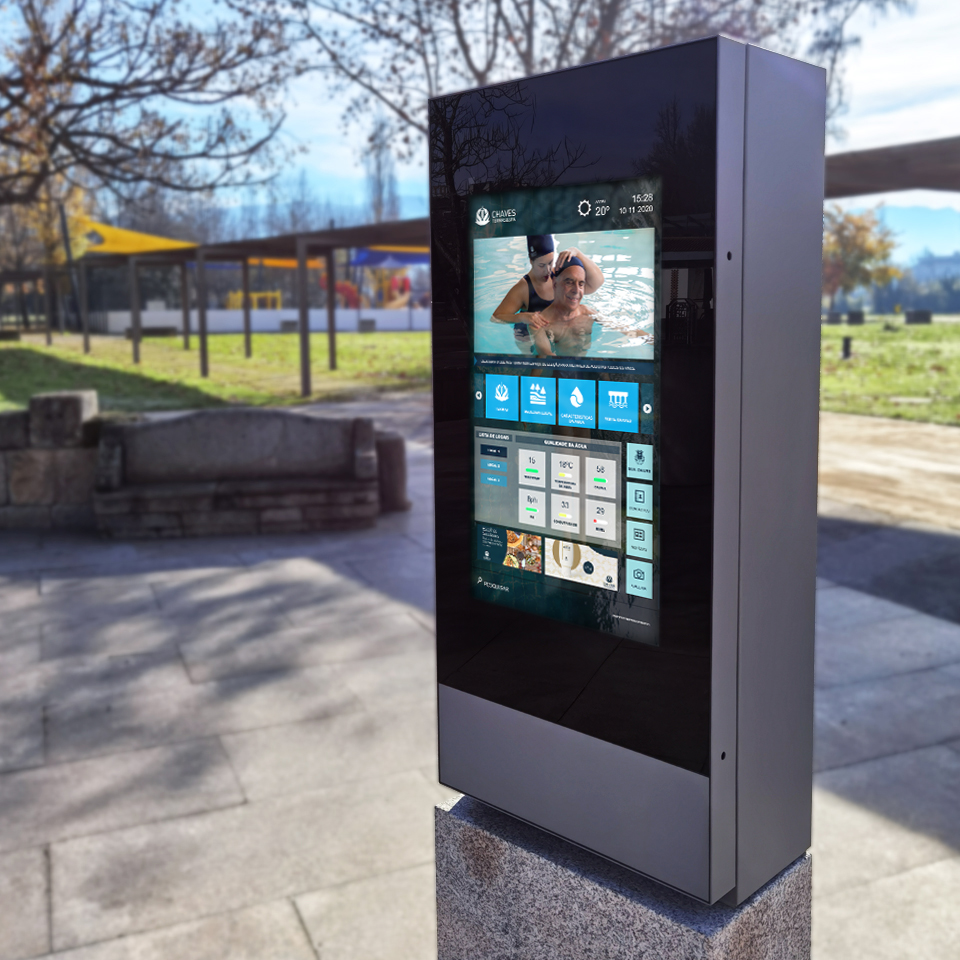 Termas de Chaves promotes interactivity with PARTTEAM & OEMKIOSKS digital billboard