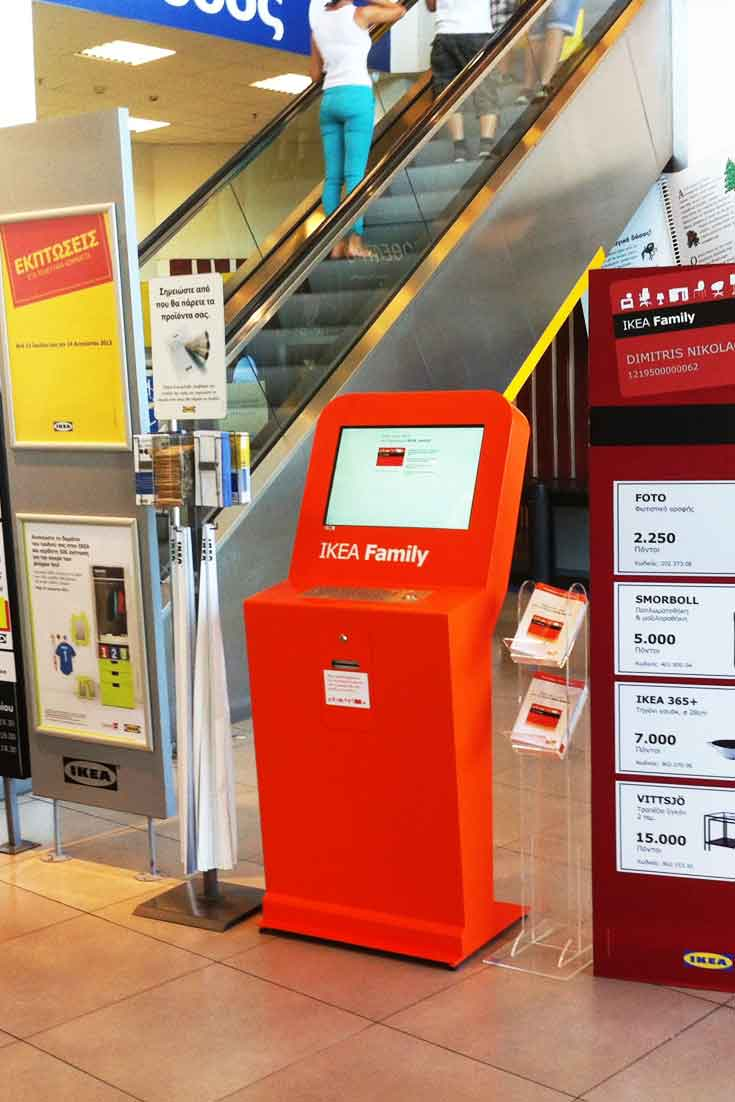 Interactive Kiosks for IKEA client registration in Cyprus