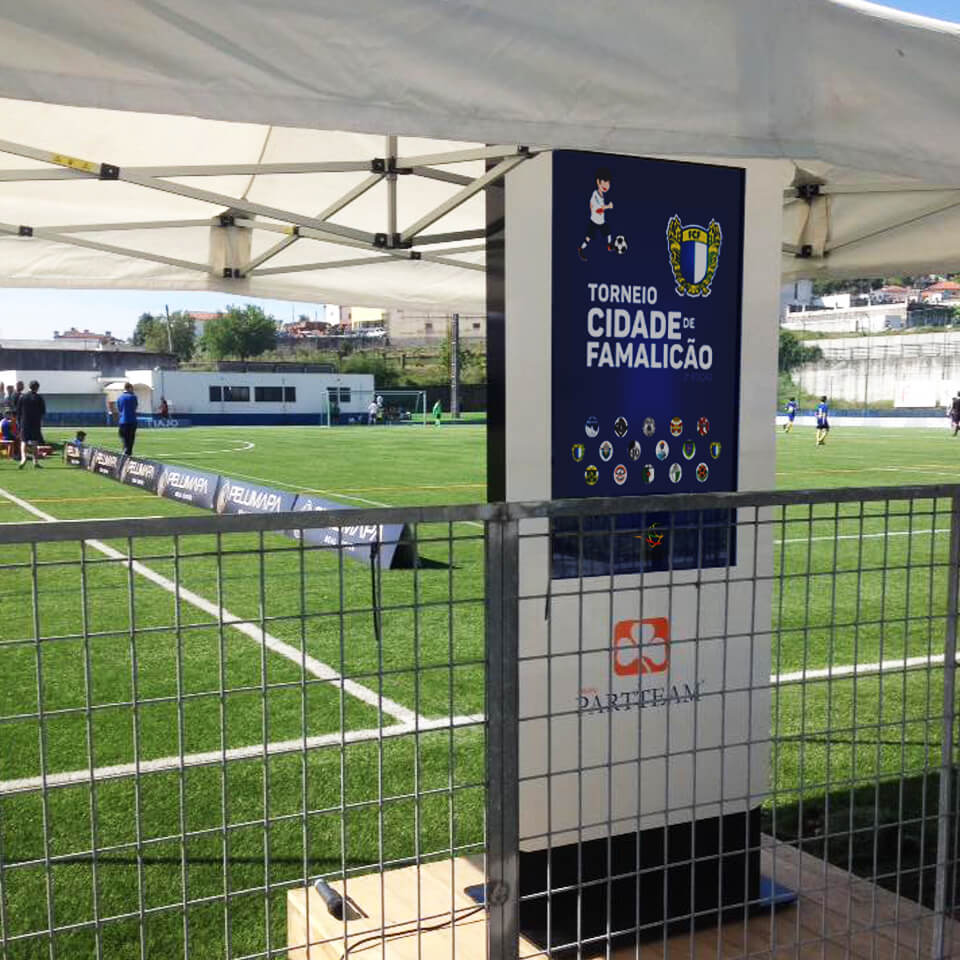 Interactive Digital Billboard in Football Tournament by PARTTEAM & OEMKIOSKS