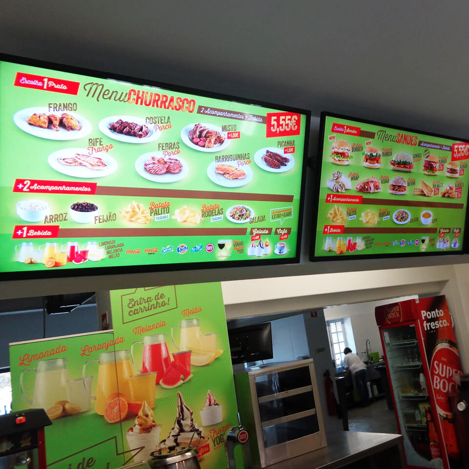 Digital Menu Board for Shikan Restaurant by PARTTEAM & OEMKIOSKS