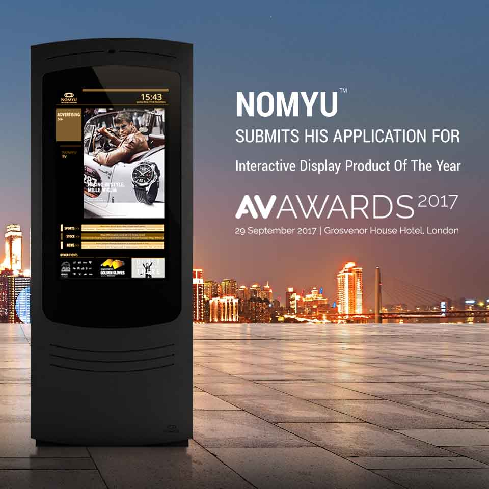 NOMYU submits his applications for the AV Awards 2017 by PARTTEAM