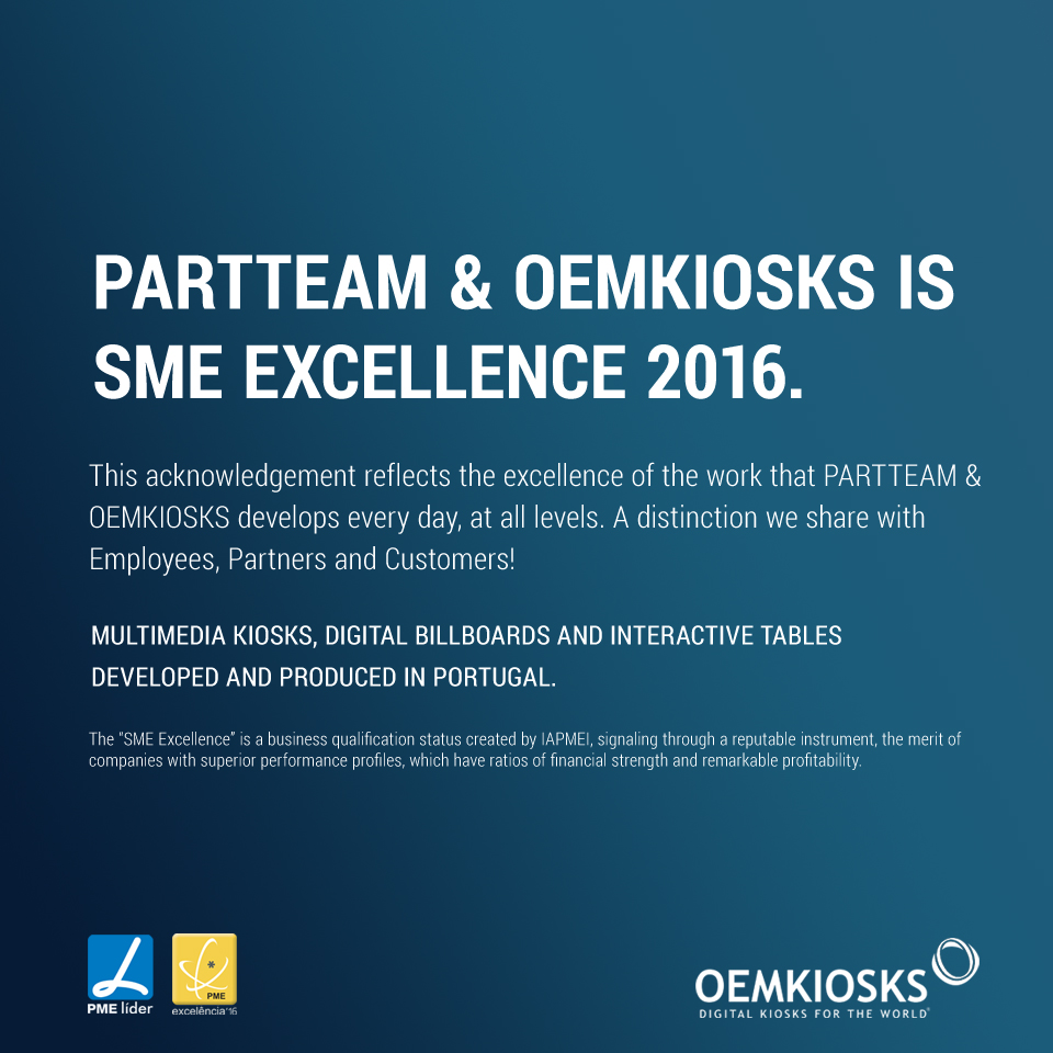 SME Excellence 2016 PARTTEAM & OEMKIOSKS