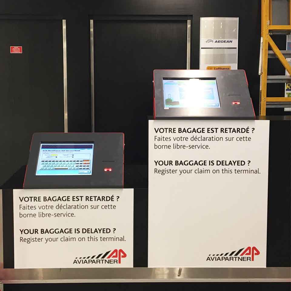 Self-Service Balcony Kiosk for French Airports by PARTTEAM & OEMKIOSKS