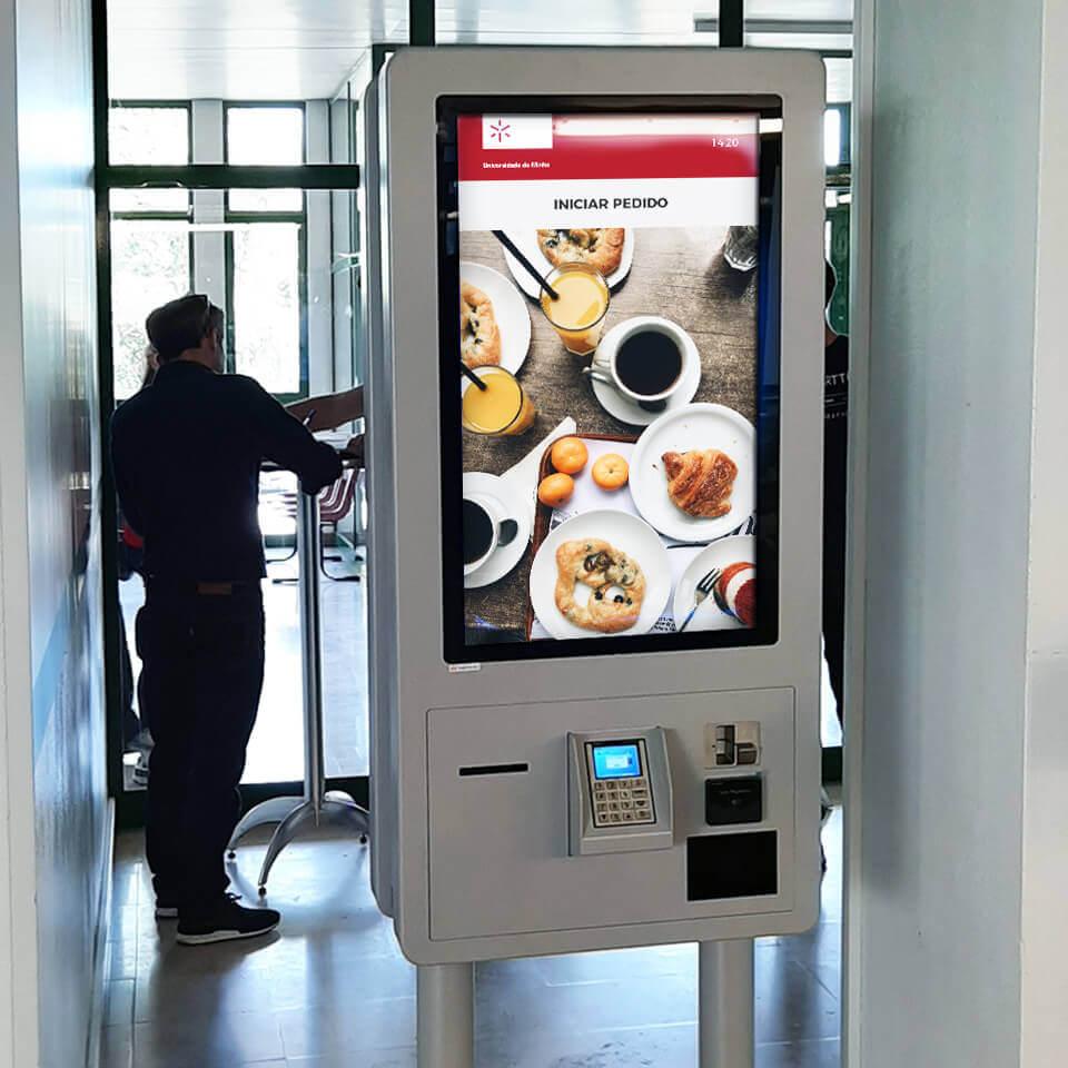Self-Service Catering Kiosks for University of Minho - PARTTEAM & OEMKIOSKS