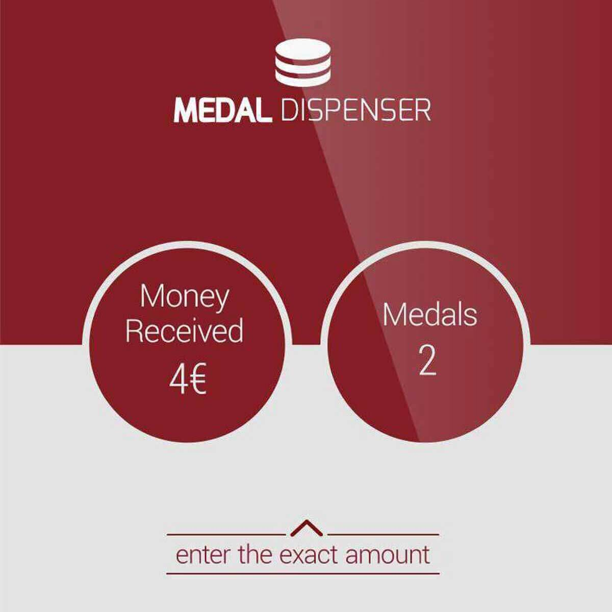 Medal Dispenser by PARTTEAM & OEMKIOSKS