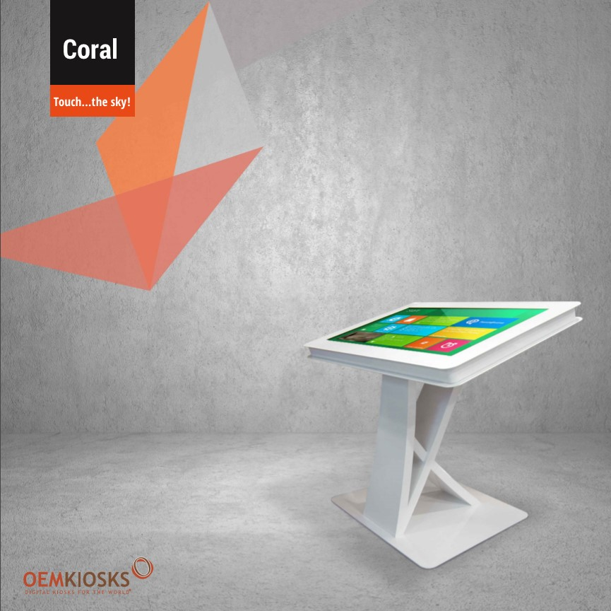 Coral Interactive Table by PARTTEAM & OEMKIOSKS