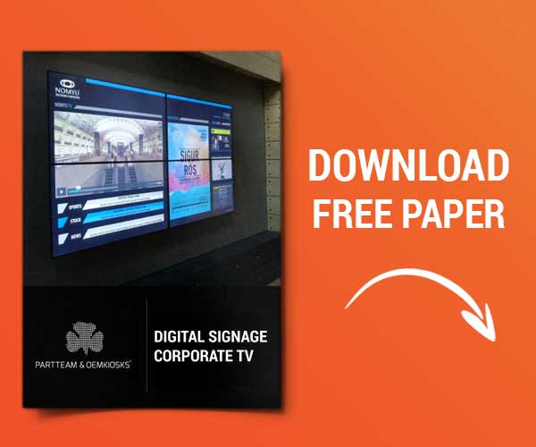 Video Wall for Bazar Desportivo: Digital Signage | PARTTEAM & OEMKIOSKS