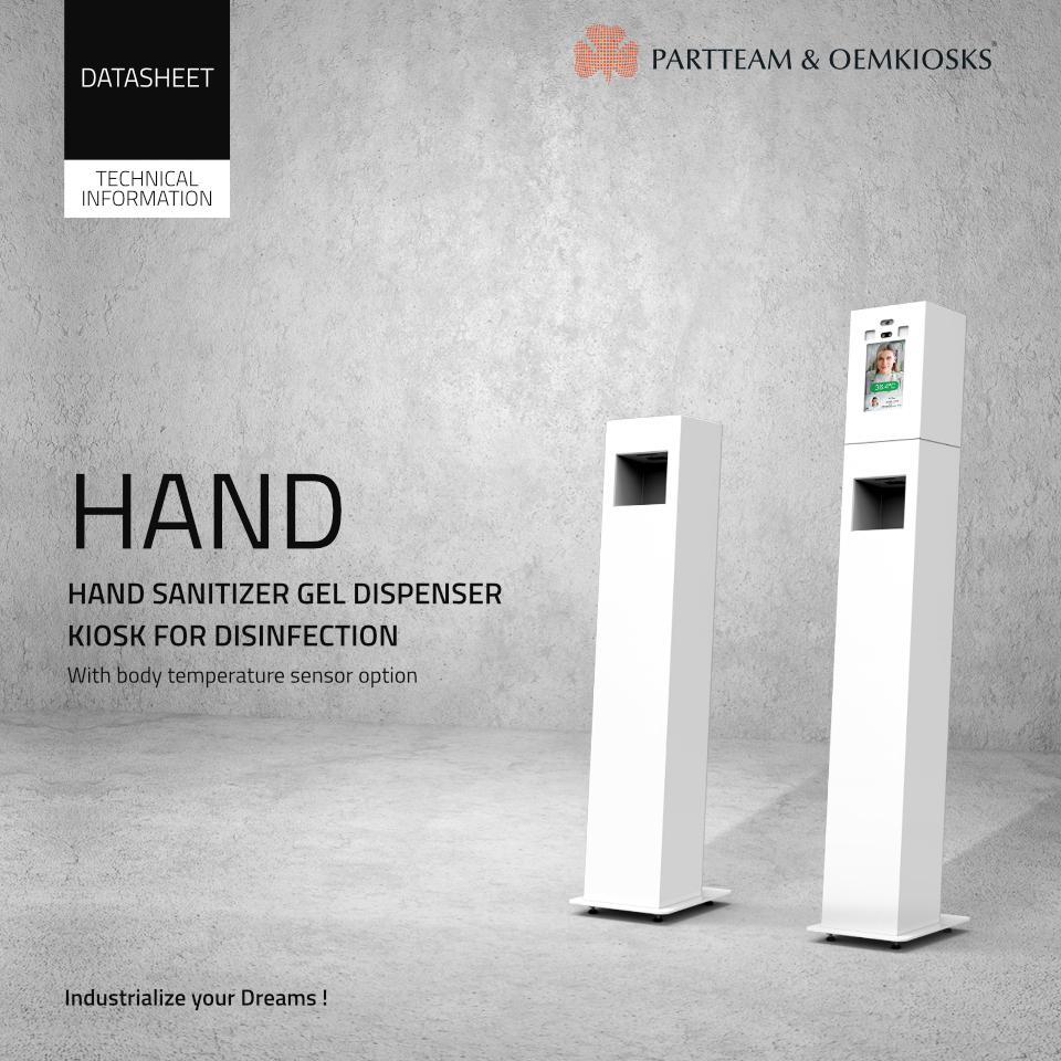 Hand sanitizer gel dispenser kiosks for desinfection - Paper
