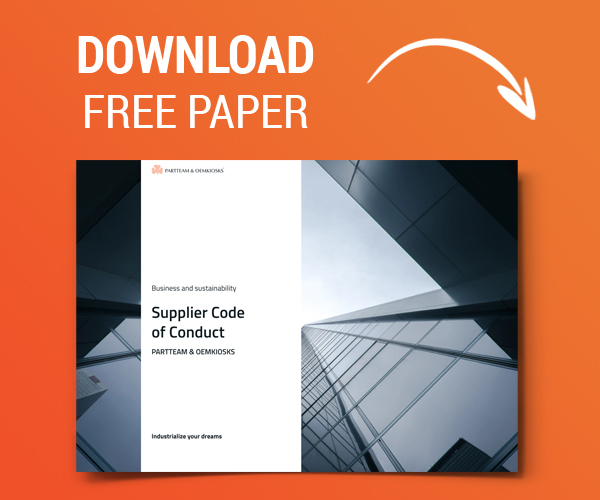 Supplier code of conduct- Paper by PARTTEAM & OEMKIOSKS